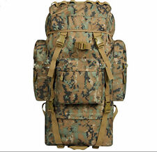 Woodland Digital Rucksack 65L Bergen / Woodland Camo Military, Cadet Backpack