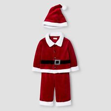 Cat & Jack Baby Boys' 2 Piece Santa Set Red Color the Hat is not included 0-3M