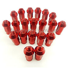 20X Red  Wheel Lug Nuts M12X1.5 JDM Racing Fit Honda Civic Acura Integra