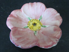 Vtg Franciscan PINK Desert Rose Butter Pat Dish #2 Hand Painted & Decorated USA