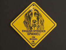 English Springer Spaniel On Board Dog Breed Yellow Car Swing Sign Gift