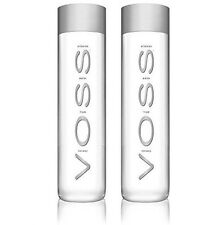 Voss Artesian Still Water Glass Bottles 375 ml 12.7 oz (2 Pack)