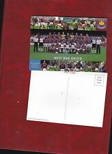 West Ham United team picture postcard approx 2001