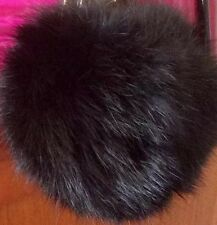 Fashion Crystal C Charm With Real Rabbit Fur Ball Key Chain Purse Charm