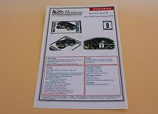 IR Planche papier voiture Alpine 1600 turbo cevennes 1972 N°9 Heco miniatures