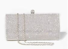 New Women's Charming Charlie Sparkling Rhinestone Long Clutch Evening Bag Purse