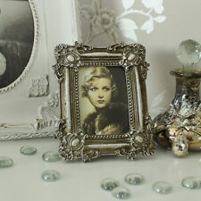 Silver antique style photograph frame shabby vintage chic photo display gift