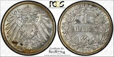 Germany 1914-A 1 Mark PCGS MS65, golden peripheral toning