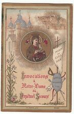 RELIGION / IMAGE PIEUSE / CANIVET /  INVOCATIONS A  N.D DU PERPETUEL SECOURS