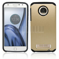 Shockproof Hard Rubber Hybrid Phone Case Cover For Motorola Moto Z Play Droid