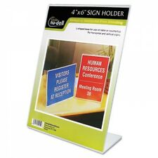 Nu-Dell Clear Plastic Sign Holder - 35446