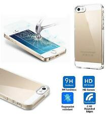 COVER TRASPARENTE SLIM IN TPU + VETRO TEMPERATO PER IPHONE 5 5S