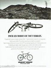 PUBLICITE ADVERTISING 026  1995   Giant Bikes  vélo  hiker