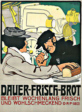Art Ad Dauer Fresh Bread Kitchen Food Deco Poster Print