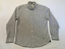 VOLCOM button shirt Men's L 'WEIRDOH' long sleeve striped 100% cotton