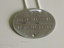 GERMAN ARMY WWII WW2 REPRO TANK HUNTER INFANTRY DOG TAG WITH CORD