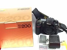 Excellent Nikon D D200 10.2 MP Digital SLR Camera - Black Body, charger, memory