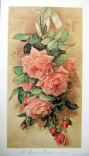 art print~A BUNCH OF BEAUTIES~de Longpre pink roses Victorian vtg floral re11x19