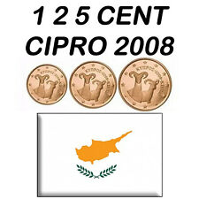 1 + 2 + 5 CENT 2008 CIPRO CYPRUS ZYPERN CHYPRE CHIPRE FDC UNC