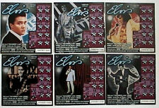 Elvis Presley on 6 different tickets, CA Instant Lottery Ticket Set