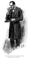 "Sidney Paget drawing of Sherlock Holmes for Strand Magazine 11"" x 17"""