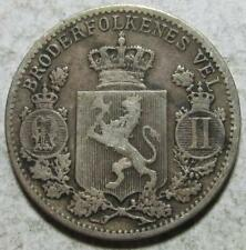 Norway, 25 Ore, 1899, Fine, Cleaned, .0467 Ounce Silver
