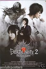 """""""DEATH NOTE 2-THE LAST NAME"""" MOVIE POSTER FROM ASIA V.2-Supernatural Japan Movie"""