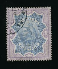 INDIA QV USED in BUSHIRE 1899 REGISTRATION CDS on 5R