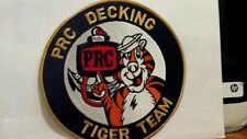 Navy PRC Decking Tiger Team Color Patch. 7 x 7  inches