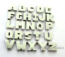 26pcs Floating letters A-Z Charms Fitting Floating Memory Glass Lockets