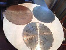 """Lot of 3 Antique Regina 15 1/2"""" Music Box Discs No. 1011, 1314, 1550"""