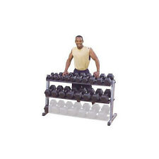 Body-Solid 62 inches Wide 2 Tier Dumbbell Rack