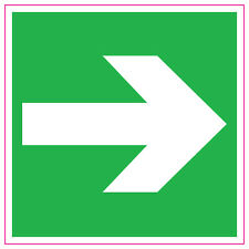 [ 100x100mm ] Fire Exit Arrow | RIGHT | GREEN | Sign/Stickers/Health & Safety
