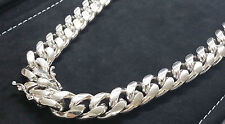"30"" Miami Cuban Link Chain Sterling Silver 925 Necklace Heavy &Thick"