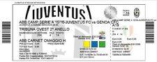 Biglietto Stadio Juventus - Genoa  03/02/16 - Tribuna Ovest 2°Anello