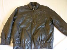 ROCAWEAR Leather Jacket Mens 2X Black Great Condition