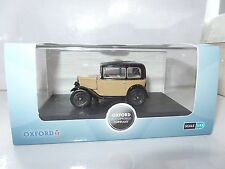 Oxford ASS001 1/43 O Scale Austin 7 Seven RN Saloon Fawn Yellow