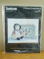 "Janlynn ""Amish Doll"" Counted Cross Stitch Kit #82-01 Finished Size 14x11 HTF NIP"