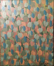 Mark Tobey Original Painting Hand Signed Vintage Coloured Oil On Paperboard
