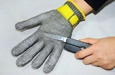 100% Safety Stainless Steel Metal Mesh Butcher Gloves Cut Proof Protect Glove N