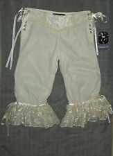 VINTAGE LIP SERVICE VELVET BLOOMERS S REQUIEM FOR THE DEAD GOTH WHITE STEAMPUNK