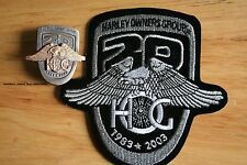20th Anniversary Pin & Patch HARLEY Davidson OWNERS GROUP 1983 - 1998 HOG HD MC