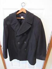US NAVY Pea Coat USN 100% Wool Coat Jacket men's SIZE 44 LONG USN 44L