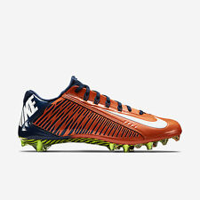 Nike Vapor Carbon Elite TD Football Cleats Size 11 Navy Blue Orange 657441-810