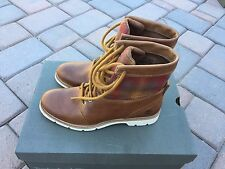 "Timberland TB0A11LA Women's Bramhall Fabric/Leather 6"" Winter Boot Wheat/Red SZ9"