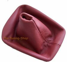 FITS BMW 3 SERIES E36 E46 GEAR STICK GAITER COVER TANINRED LEATHER