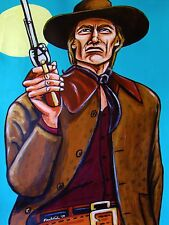 CLINT EASTWOOD PRINT poster joe kidd western movie cowboy hat colt army revolver