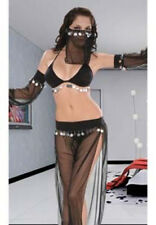 Womens Deluxe Space Slave costume sexy hollow out night club Nightwear UK-5003