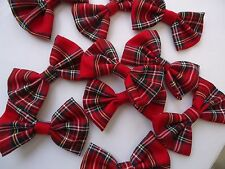 RED TARTAN / BURNS NIGHT/ XMAS - DOG BOW TIE / DOG COLLAR ACCESSORY- DOG GIFT