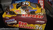 1.24 ACTION NASCAR KEN SCHRADER #36 SNICKERS CRUNCHER  2001 PONTIAC GRAND PRIX
